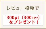レビュー投稿で次回お買物時300円OFF!(300ポイントプレゼント!)